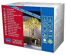Konstsmide 3612-103 Guirlande 120 Micro LED Blanc Chaud + Câble Transparent 24 V