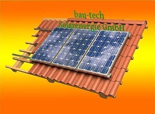 Solar Modul Montage Halterung für 2 Module Rahmenhöhe 40mm für Pfannendach von bau-tech Solarenergie