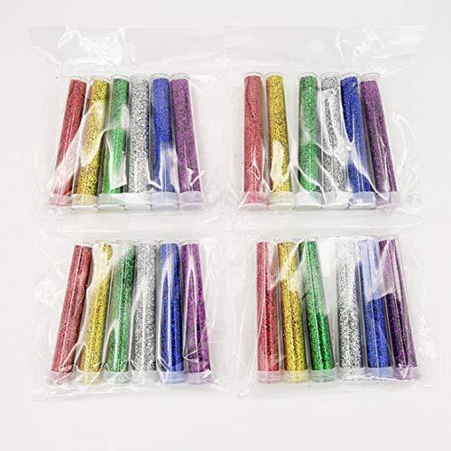 LouiseEvel215 6 stücke Glitter Shake Gläser Set Kit Extra Fein Glitter Kunst Liefern DIY Handgemachten Schleim Kit für Scrapbooking Party Handwerk (Multicolor Glitter Handwerk)