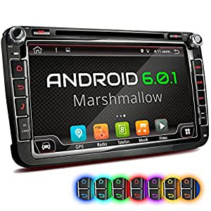 xomax xm 2da801 android 6 0 1 autoradio f r vw seat skoda. Black Bedroom Furniture Sets. Home Design Ideas