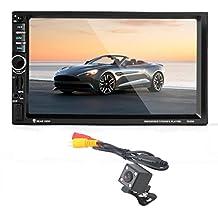 "yukong 7""HD Bluetooth pantalla táctil coche GPS Stereo Radio 2Din, coche MP5, pantalla táctil de Bluetooth 2din HD de 7pulgadas coche GPS estéreo FM/MP5/MP3/USB/AUX, TF tarjeta de apoyo (hasta 32GB) y ranura estándar USB interfaz"