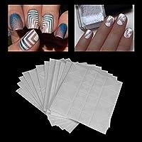 RoadRomao Beautiful 12 Style/Kit Manicure Hollow Nail Art Fringe Sticker Nail Decoración