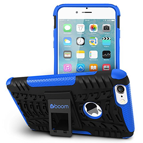 iPhone 6 Plus/iPhone 6S Plus Case #boom Shock 2 Coque Housse Etui De Smartphone Avec Béquille De Support Intégrée. Coque Protectrice Fine Et Élégante. Contours Antiglisse. Protection Hybride En Mélang Bleu