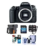 #6: Canon EOS 77D DSLR Body - Bundle with 16GB SDHC Card, Holster Case, Cleaning Kit, Memory Wallet, Card Reader, Software Package