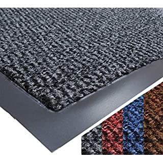 UAREHOME HEAVY DUTY NON SLIP BARRIER MAT LARGE SMALL RUGS RUNNER KITCHEN DOOR HALL (60x90, Grey)
