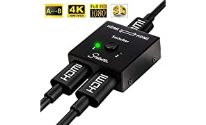 Snxiwth HDMI Switch 4K ab HDMI Bidirektionaler Schalter 2 in 1 Out und 1 in 2 Out für HDTV/Blu-Ray Player/DVD/DVR/Xbox/PS4 usw.