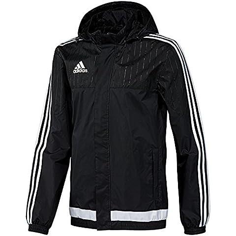 Adidas rodmann chubasquero Tiro 15, niño, color  - negro/blanco, tamaño 8 años (128 cm)