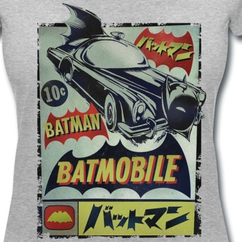 DC Comics Originals Batman En Japonais T-shirt col V Femme de Spreadshirt®‎ gris chiné