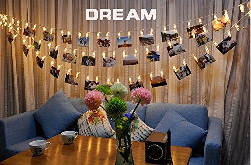 Foto-Clip Lichterketten,Tukistore 3M / 10ft 20 LED Batteriebetriebene Fee Twinkle Lichterketten Hochzeit Party Weihnachten Home Decor Lichter zum Aufhängen von Fotos, Karten und Artwork