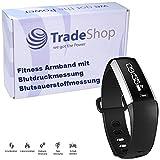 Touchscreen Fitness Bracelet Bluetooth Smartwatch Blutdruck Blutsauerstoffmessung Sport Armband Uhr Pulsmesser Schrittzähler Kalorienverbrauch Schlafanalyse Wecker Musiksteuerung Fernauslöser Aktivitätstracker IP67 Geschützt für Android iPhone iOS mit App
