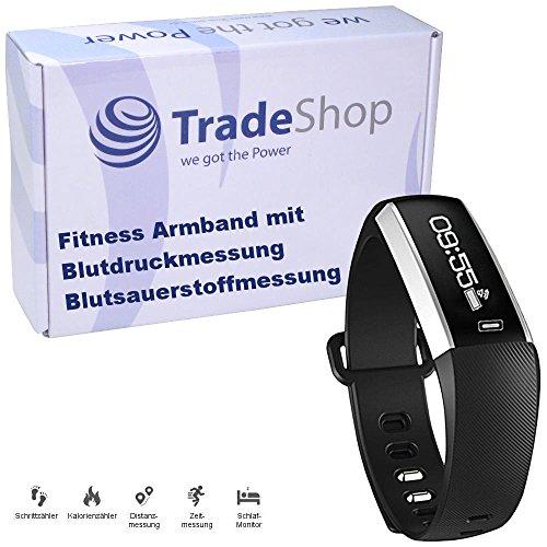 Ultra Slim Fitness Tracker mit Blutdruckmesser Blutsauerstoffgehaltanzeige Anrufanzeige Nachrichtenanzeige Herzfrequenzmessung Schlafmonitor Fernauslöser Musiksteuerung IP67 Spritwassergeschützt für Android / iPhone Bluetooth Verbindung