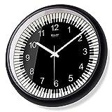 Komo con Movimento Silenzioso Sweep Orologio da parete soggiorno mute creative arte moderna orologio al quarzo,10 pollici,calendario,marrone