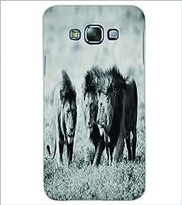 PRINTSWAG LIONS Designer Back Cover Case for SAMSUNG GALAXY E7