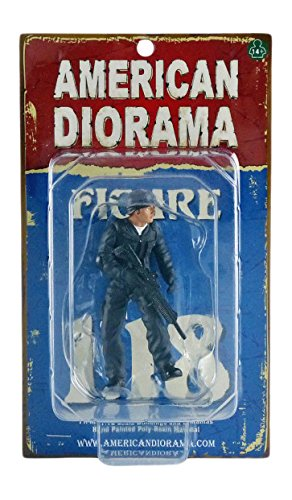 American Diorama-77420-Figura SWAT-Rifleman-Escala 1/18-Azul