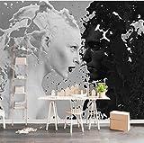 Schwarz Weiß Milch Liebhaber Fototapeten Für Wand 3 D Wohnzimmer Schlafzimmer Shop Bar Café Wände Wandbilder Rolle Papel De Parede, 430X300 Cm (169,29X118,11 In)