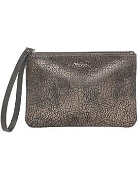 Tamaris KENDRA POUCH Beutel Damen 7910172-395 elegante kleine Handgelenktasche Abendtasche in Dark Brown Comb