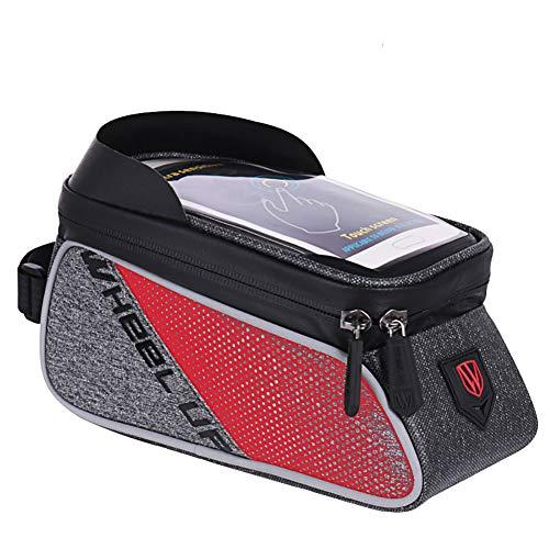 QKa Portabici da Bicicletta e Porta Cellulare integrati nel Parasole per telefoni cellulari da 6,5   ', iPhone, Samsung, Porta Cellulare per Biciclette,R
