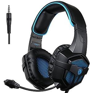 SADES 807 Multi-Platform Gaming Headset für Playstation 4 Neue Xbox One PS4 PC Computer Spiele, Noise Isolation Bass Surround Stereo Soft Ohrenschützer Over-Ear Kopfhörer mit Mic