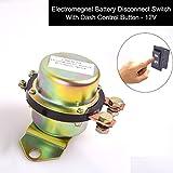 CoCar Auto Kfz 12V Elektromagnetisch Trenner Batterietrennschalter Dash Button Control Magnetspule Stromunterbrecher Hauptstromschalter Hauptschalter Batterieschalter Batteriehauptschalter