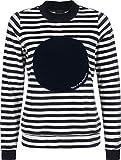 Bench Pullover Gestreiftes Sweatshirt in Nicki-Qualität Stripe Snow White+essentially Navy M