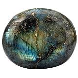 Nupuyai Handschmeichler Edelstein Trommelstein Palmsteine Oval Form Kristall Heilsteine Taschenstein für Massage Reiki und Haus Deko