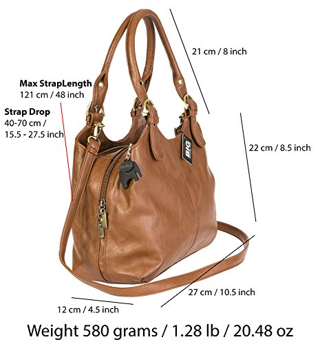 Big Handbag Shop, Borsa a mano donna Navy (Plain S105)
