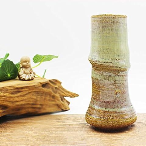 Lbcvh Moderna Y Minimalista Michael Mak Bambú Emulación De Vasos Cerámicos Decorados Adornos De Decoración Del Hogar De Escritorio