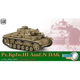 Dragon Models Pz.Kpfw.III Ausf.N DAK, s.Pz.Abt.501 Tunisia 1943 (1/72 Scale)