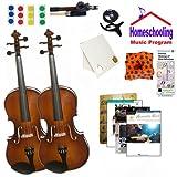 homeschool Musik–Lernen Die Viola Eltern & Kind Pack (Akustik Rock Book Bundle)–inkl. zwei Student 40,6cm Bratschen W/Fall, Schleife, Bücher & All Inclusive Learning Essentials