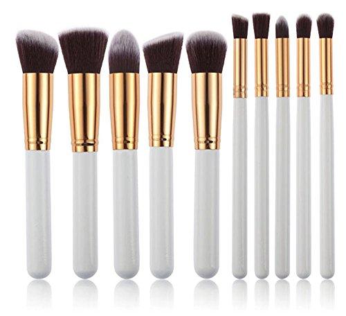 kingko® 10PCS / Set brosse cosmétiques Pinceaux teint poudre fard à paupières-pinceau de maquillage Sets Kits Outils (blanc)