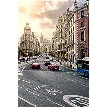 Cuadro sobre lienzo 60 x 90 cm: Gran Via, Madrid, Spain de Stefan Becker - cuadro terminado, cuadro sobre bastidor, lámina terminada sobre lienzo auténtico, impresión en lienzo