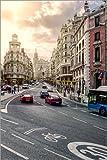 Posterlounge Lienzo 40 x 60 cm: Gran Via in Madrid de Stefan Becker - Cuadro Terminado, Cuadro sobre...
