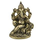 Spiritual Gift statue Ganesh Dio indù per fortuna & prosperità in ottone scultura in metallo 4x 7cm