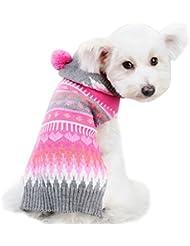 YiJee Navidad Mascota Suéteres Perro Suéter De Punto Sudadera con Capucha
