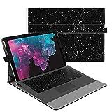Fintie Etui Microsoft Surface Pro 6 2018 / Pro LTE/Pro 2017, Folio Housse Coque Cover Case en Cuir PU avec Fermeture Magnétique pour Surface Pro 6/5/4/3 Ecran Tactile 12,3', Constellation