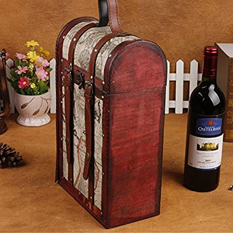 BB Vino d'annata pacchetto. doppia scatola vino. antico box. moda confezione regalo