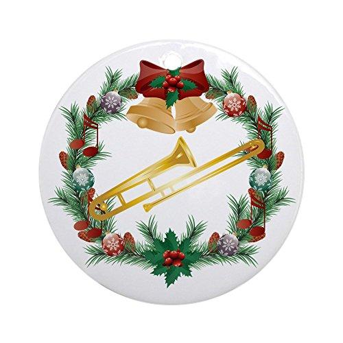CafePress–Weihnachten Schmuck Posaune Musik (rund)–Rund Urlaub Weihnachten Ornament