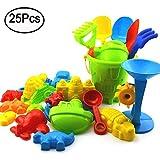 kentop 25 Stück Strand Spielzeug Set Sandformen Sand Schloss Set fur Kinder