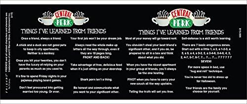 Amigos cosas aprendí (central PERK Cafe menu) TV televisión romántico serie Show de cerámica regalo de café (té, cacao) 11oz taza