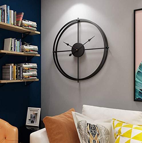 Moderno elegante elegante silenzioso silenzioso tondo orologio da parete in metallo semplice orologio da parete creativo per soggiorno camere da letto ufficio cucinearte del ferro retrò 40cm b