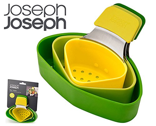 Joseph Joseph Nest Steam Green Compact 3 Piece Steaming Pod Set Dishwasher Safe