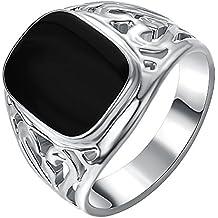 style attrayant à vendre sortie en ligne Amazon.it: anello con pietra nera - 3 stelle e più