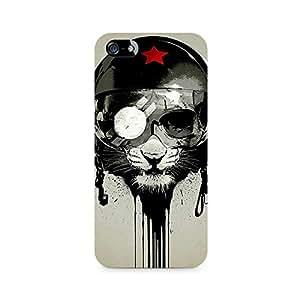 NXT GEN Helmet Lion Premium Printed Mobile Back Case For Apple iPhone 5/5s