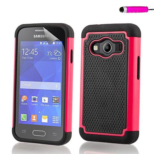 32nd Shockproof Series - Custodia Ibrida Anti-Urti per Samsung Galaxy Ace 4 (SM-G357FZ) Massima Protezione da Cadute e Urti Protettiva Case Cover - Rosa
