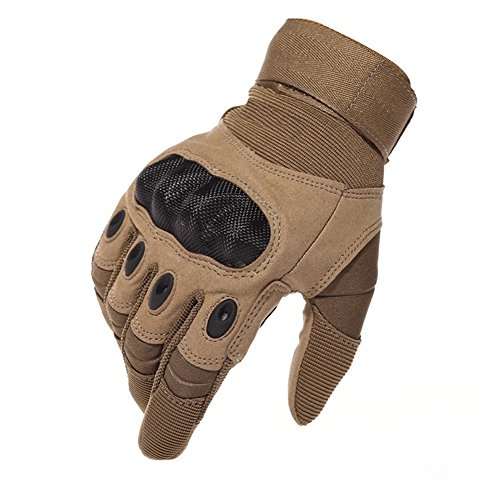 Limirror Herren Taktische Handschuhe Handschuhe Fahrradhandschuhe Motorrad Handschuhe Outdoor Sport Handschuhe Fitness Handschuhe Army Gloves Ideal für Airsoft,Militär,Paintball (Braun,L)