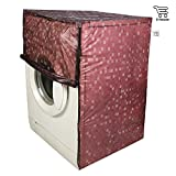 E-Retailer Classic Dark Brown Colour With Square Design Front Loading Washing Machine Cover (Suitable For 6 kg, 6.5 kg, 7 kg, 7.5 kg)