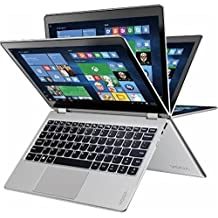 """Lenovo - Yoga 710 2-in-1 80V6000PUS 11.6"""" Touch-Screen Laptop - Intel 7th Generation Core I5-7Y54 - 8GB Memory - 128GB Solid State Drive - Silver"""