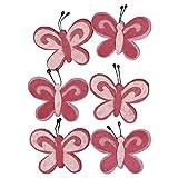 Rayher 5308333 Filz-Schmetterling, 5cm, SB-Btl 6Stück, pink