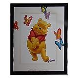Tableau Winnie l'Ourson 20 x 25 cm Disney cadre papillon