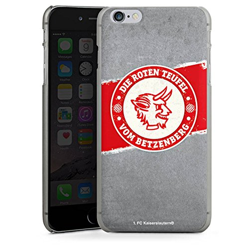 Apple iPhone 7 Hülle Premium Case Cover 1. FC Kaiserslautern Fanartikel FCK Hard Case anthrazit-klar